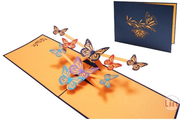 pop up card birthday cardmothers day good luck get well soon butterflies