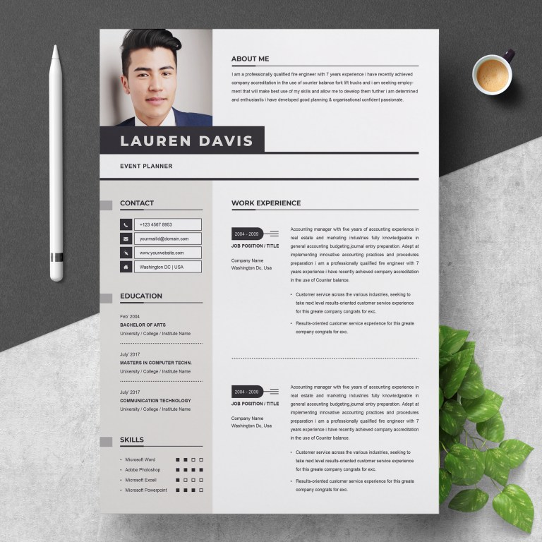 professional resume template for word apple pages cv