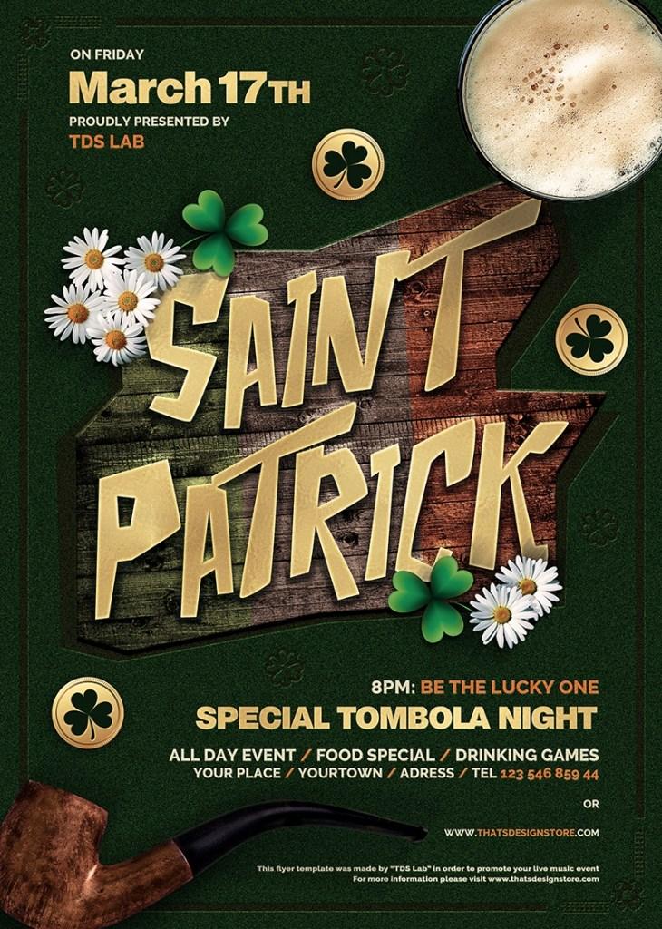 saint patricks day flyer template v6 free posters design