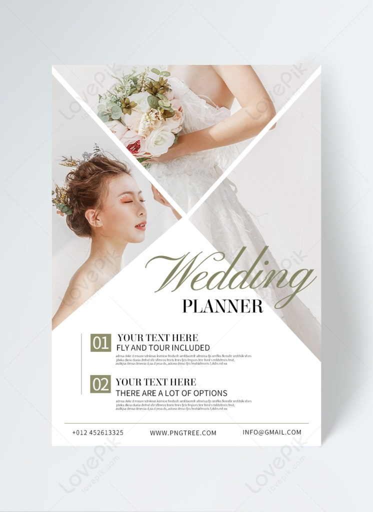 simple wedding planning flyer template imagepicture free