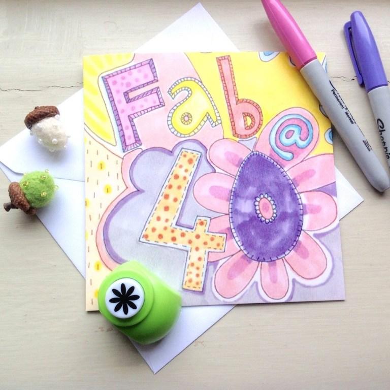 slumbermonkey design on twitter 40th birthday card fab at