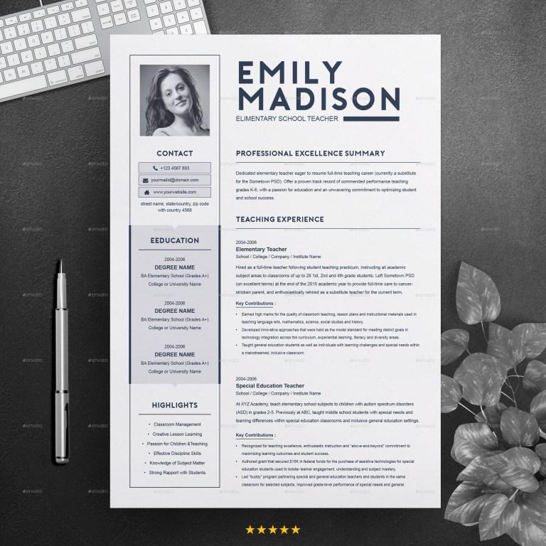 teacher resume template for ms word cover letter