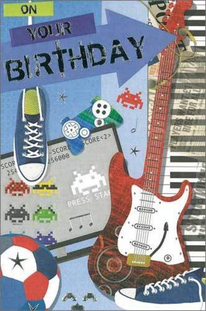 teenage boy birthday card e120 simple indulgence
