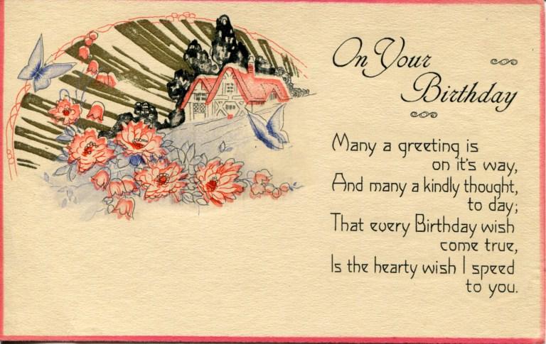 three vintage birthday postcards vintage postcards