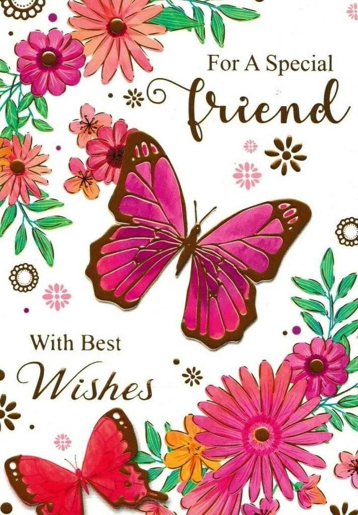 to a special friend birthday card cute traditional female