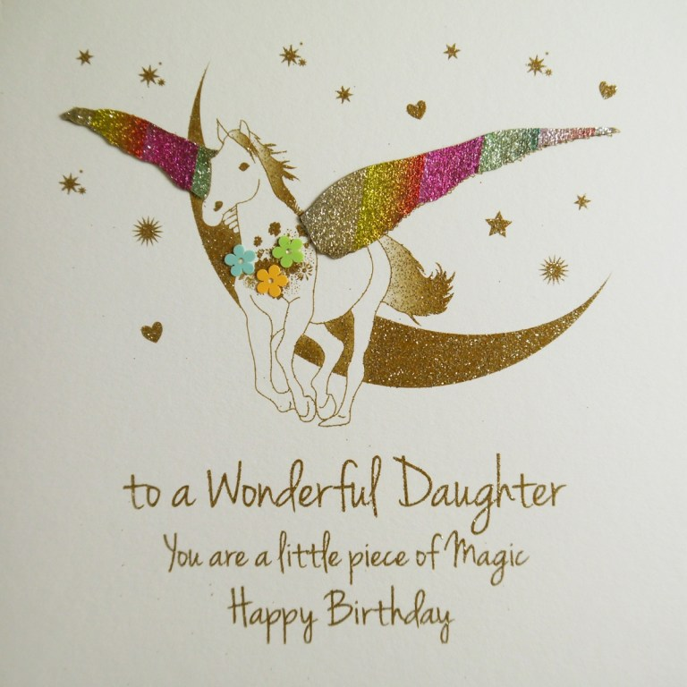 to a wonderful daughter handmade birthday card ne56
