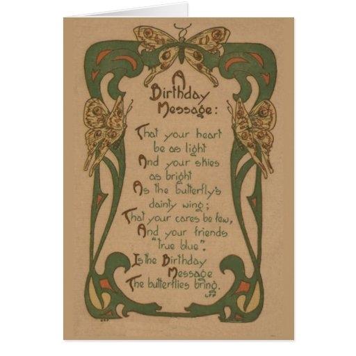 vintage birthday card art nouveau zazzle