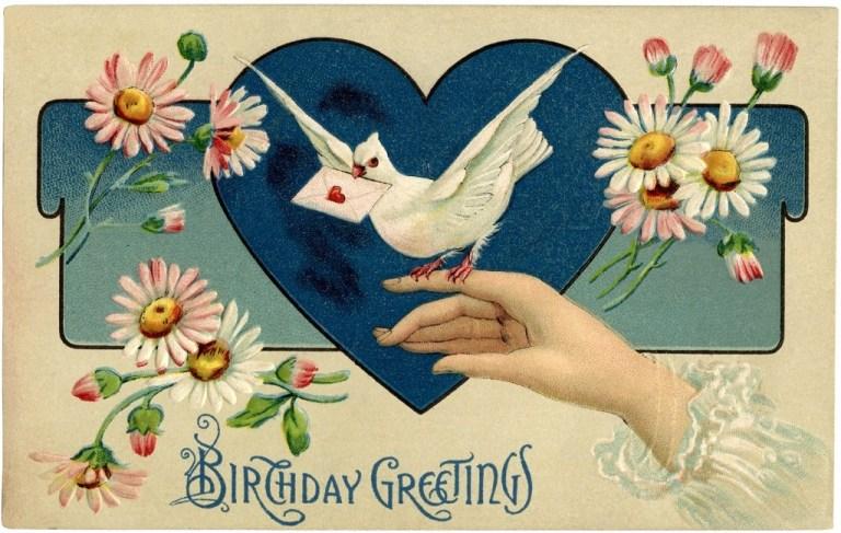 vintage birthday illustration the graphics fairy