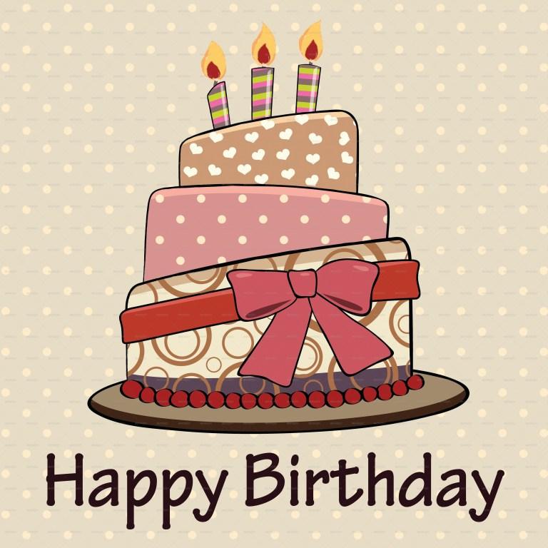 vintage happy birthday cake card kaisorn graphicriver