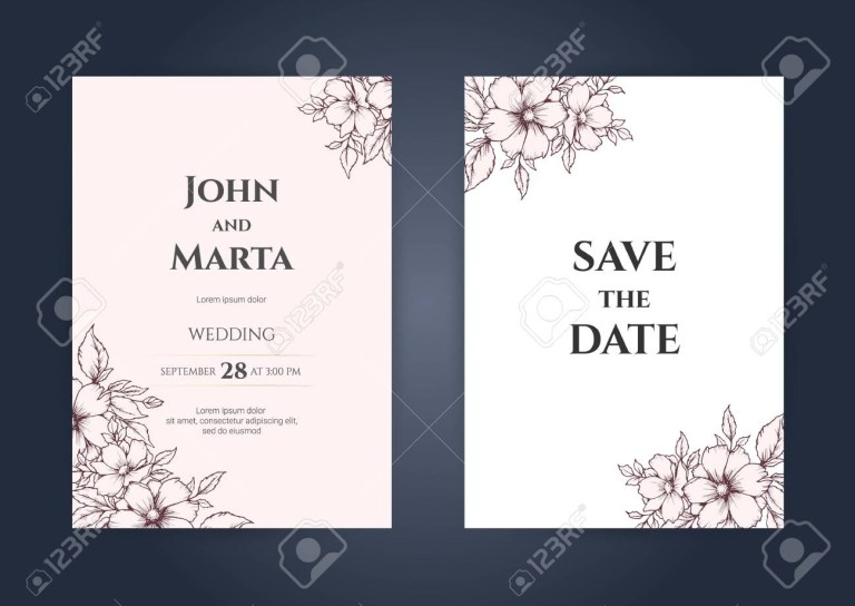 wedding invitation card template with text adapt to covers design