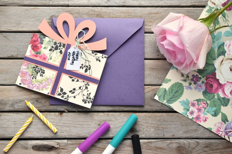woman in real life making cards with cricuts new anna