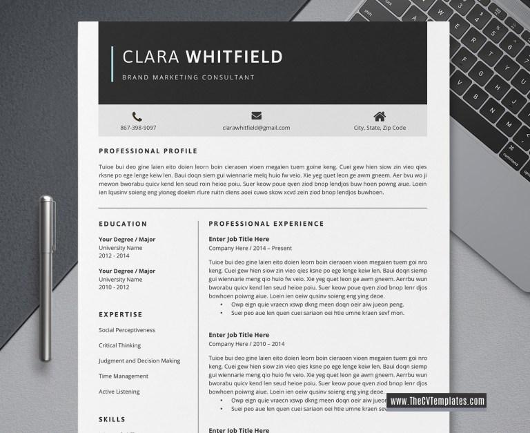 2020 simple cv template clean resume minimalist resume