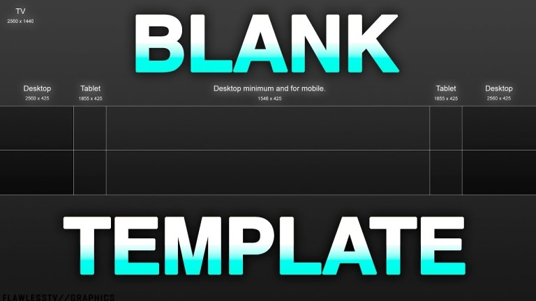 2560x1440 template youtube banner template download