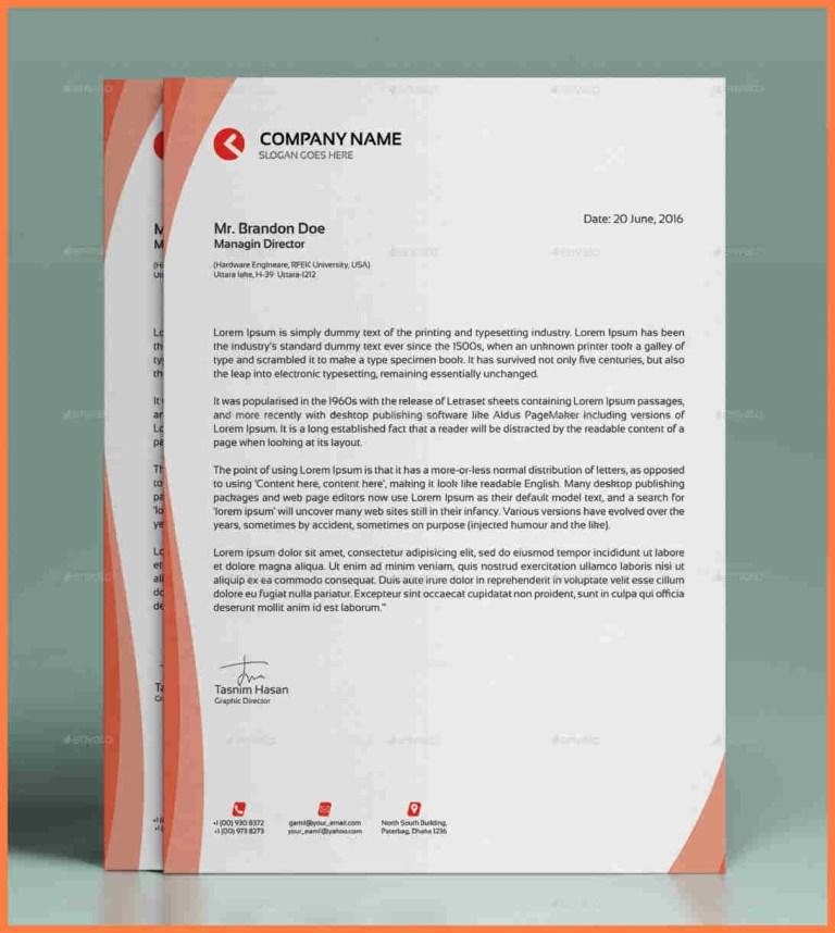 5 modern letterhead templates company letterhead