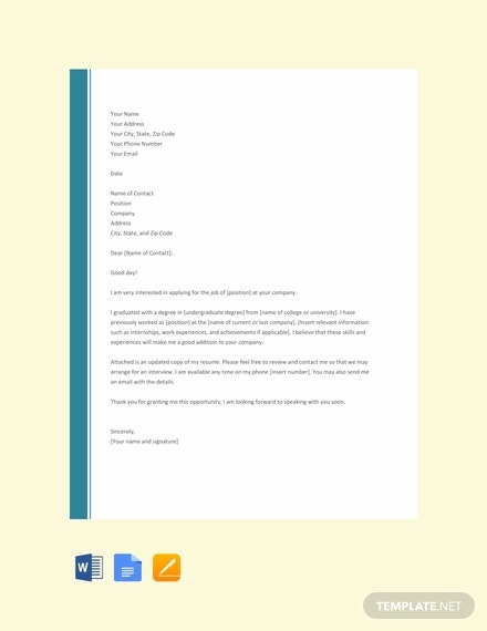 66 free cover letter templates download ready made