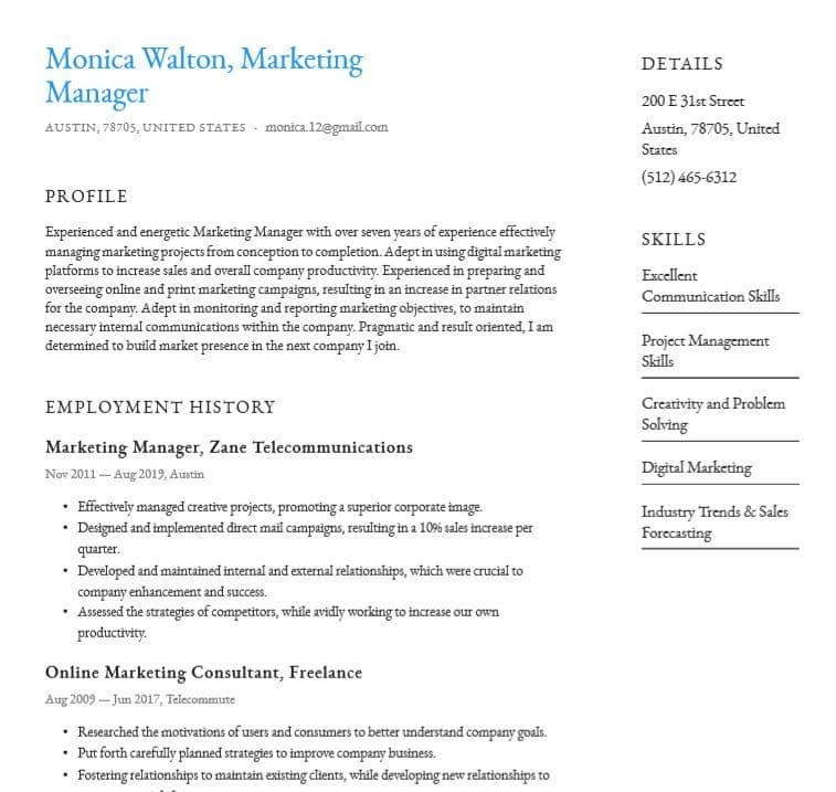 basic or simple resume templates word pdf download for