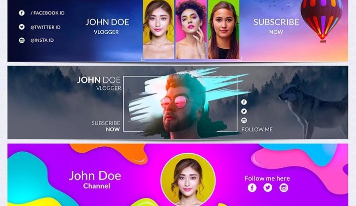 best banner templates for youtube to make creative channel