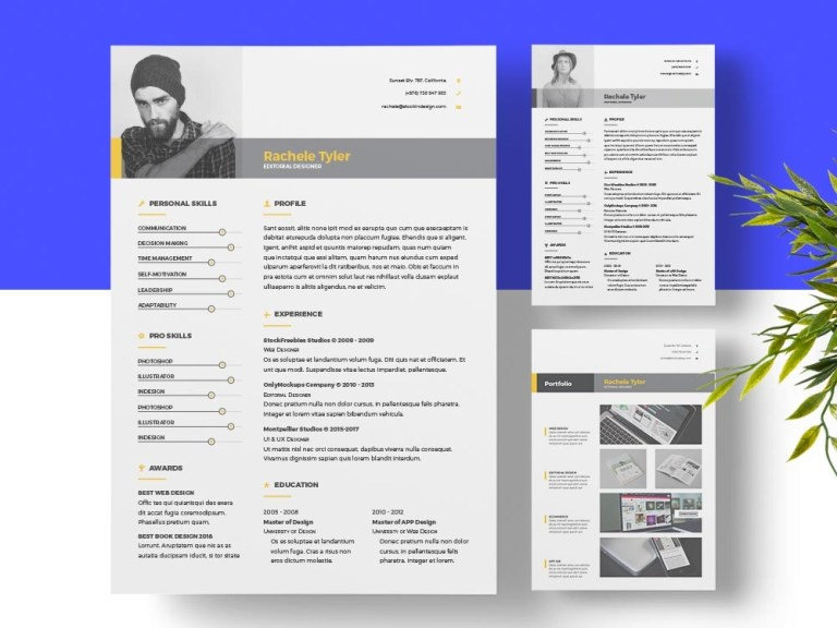 clean resume template for designers adobe indesign templates