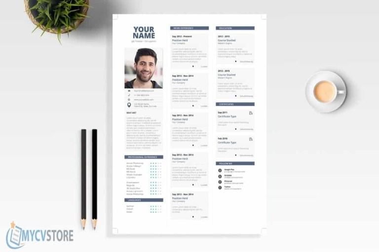 clean simple resume template editable downloadable cv word