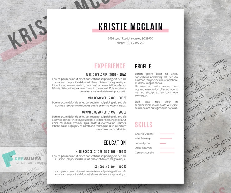 elegant resume template freebie crisp and clean freesumes