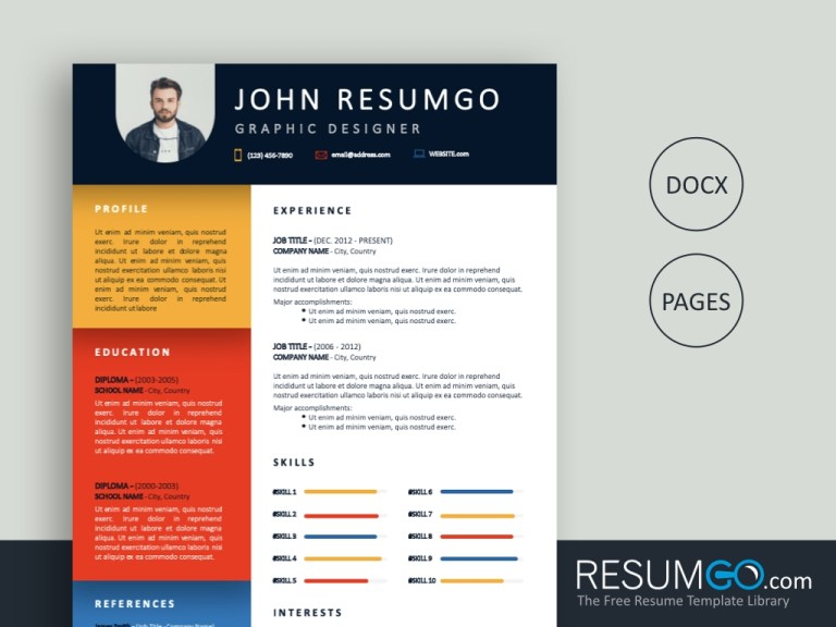 eunike colorful creative resume template resumgo