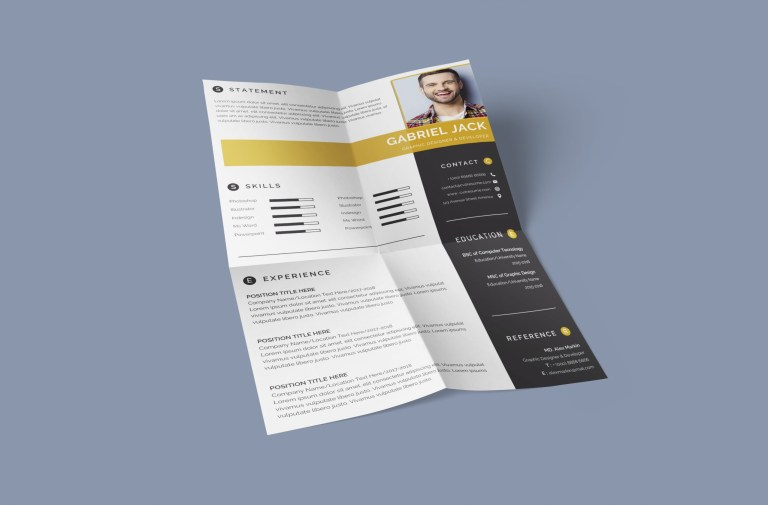 eye catching resume template to download in word format docx