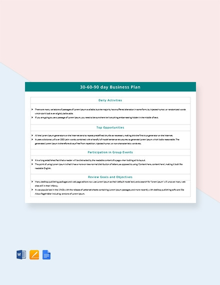 free 34 simple business plan examples in pdf ms word