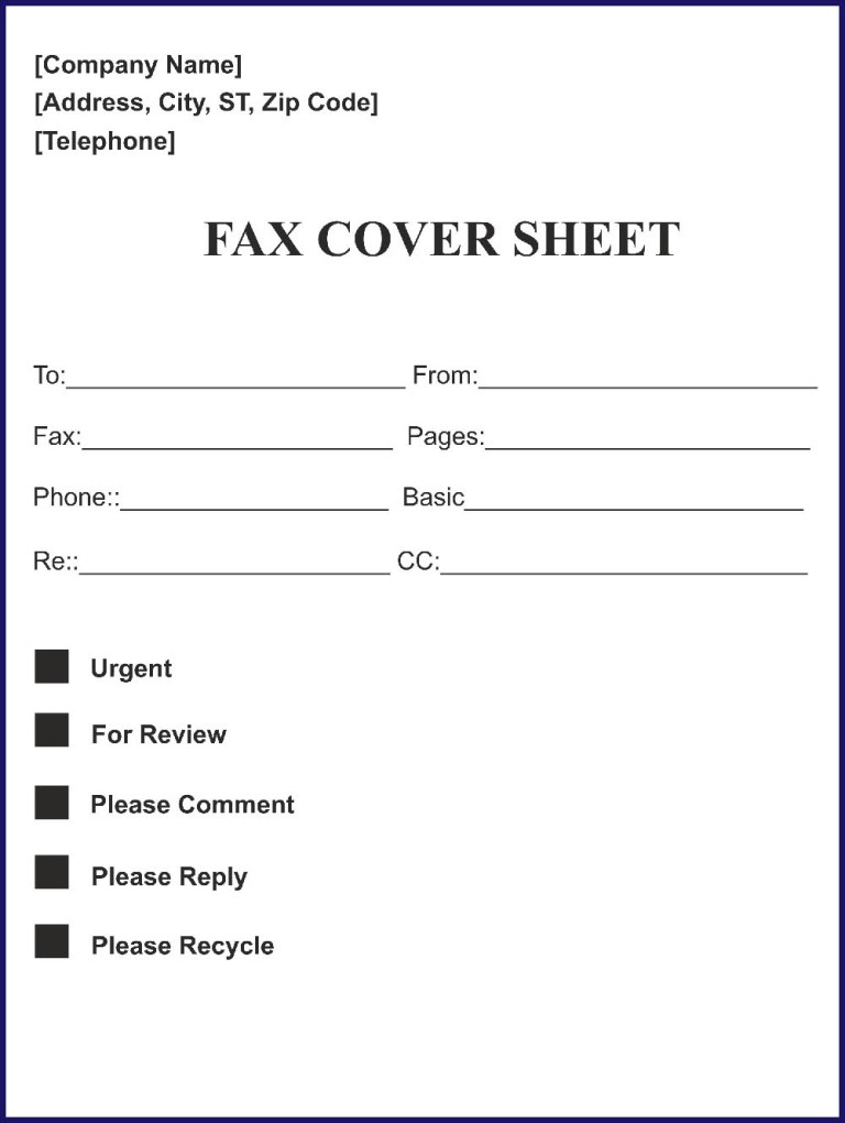 free fax cover sheet template microsoft word doc sample