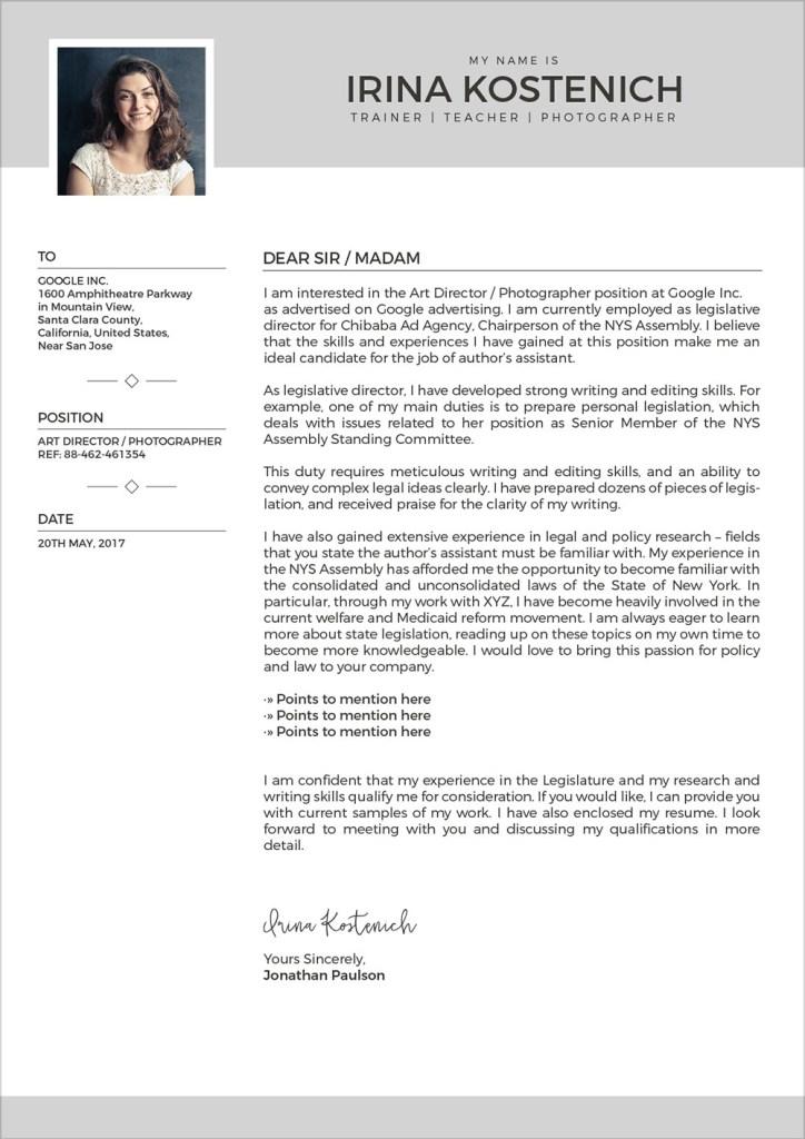 free modern cv template cover letter portfolio design