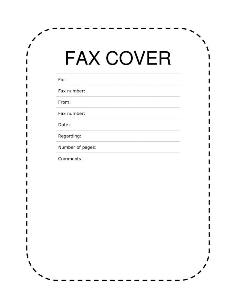 free printable fax cover sheet template sample examples