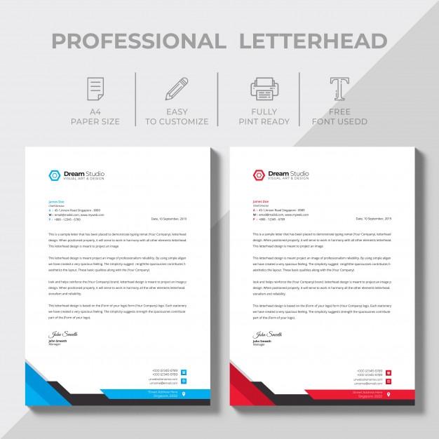 free vector modern company letterhead