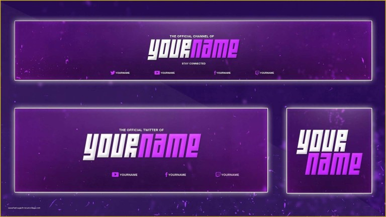 free youtube channel banner template of luxury youtube