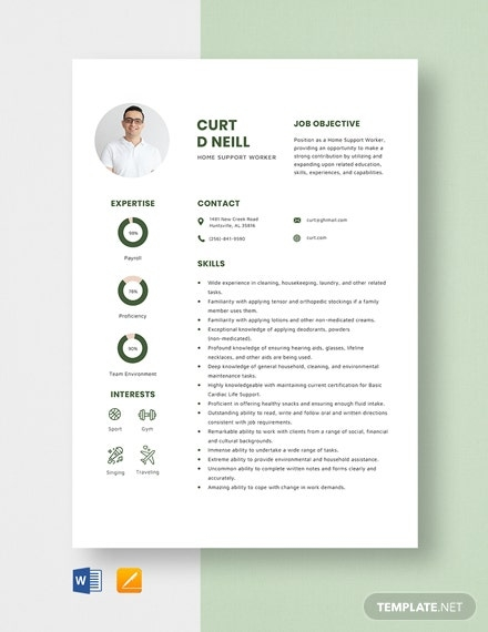 home health social worker resume template download