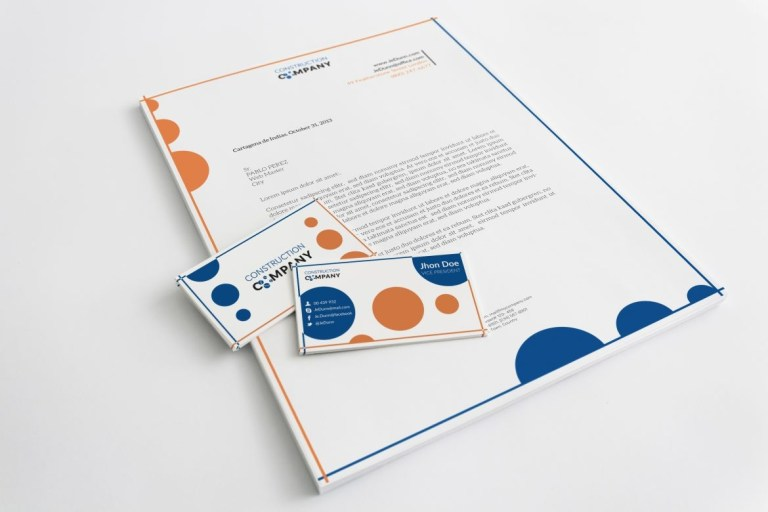 letterhead template for construction company stationary
