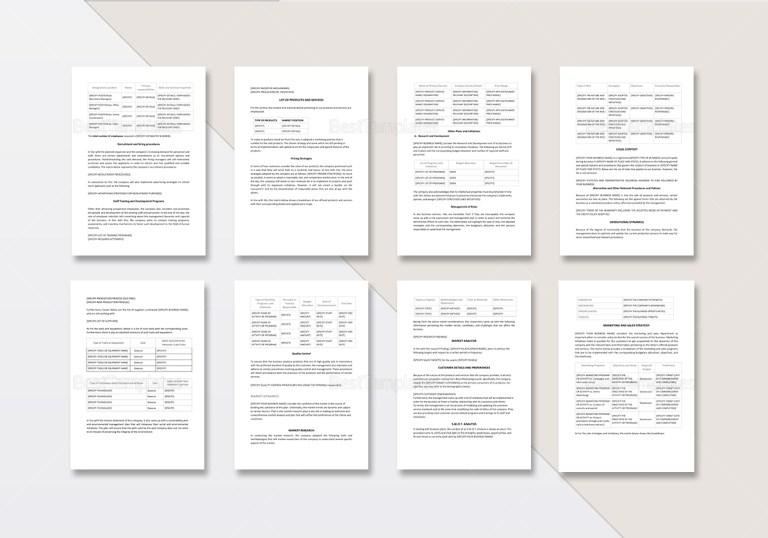 sample business plan template in word google docs apple