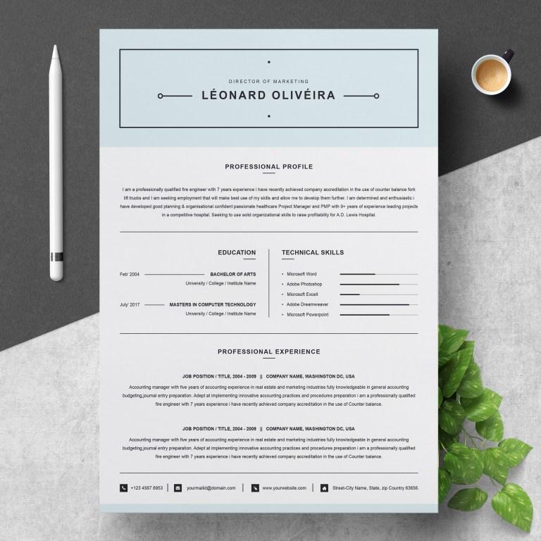 simple clean resume template word resumeinventor