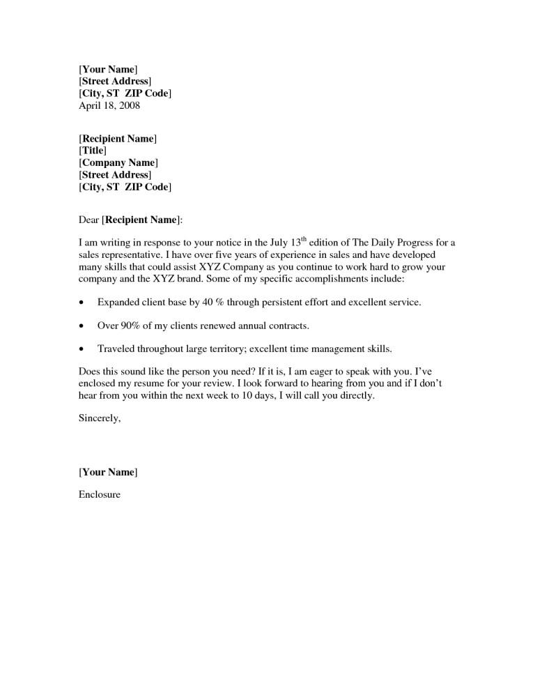 simple resume cover letter sample salescv