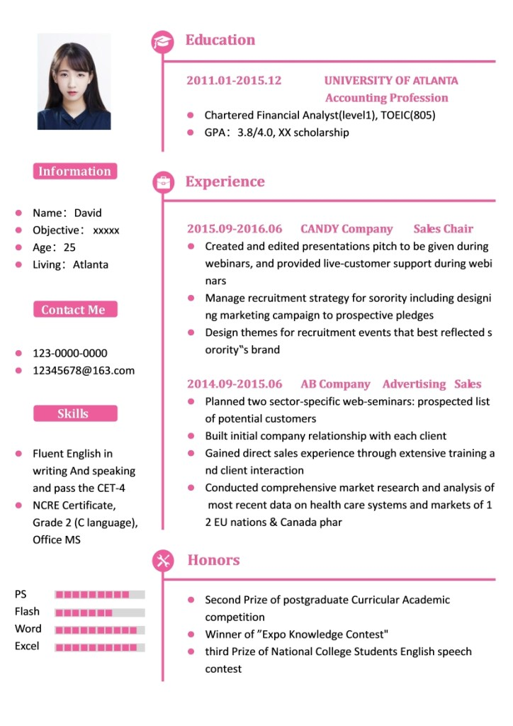 simple resume with one pagedoc writer templates wps