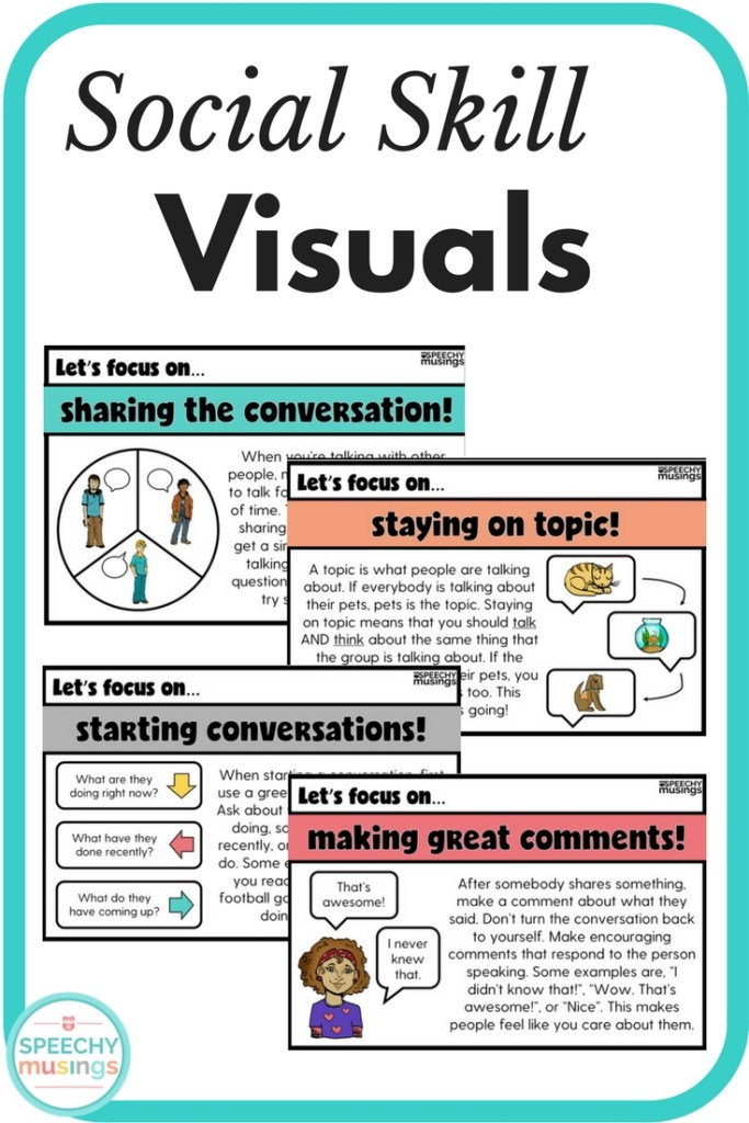 social skill visuals speechy musings