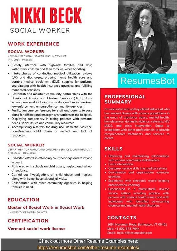 social worker resume samples and tips pdfdoc examples