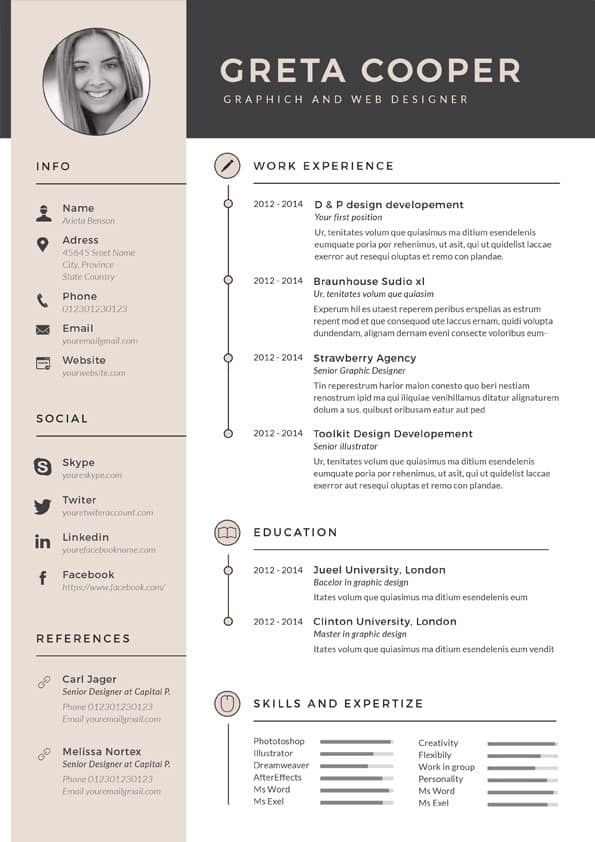 super clean resume template download for word