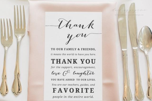 wedding thank you card template thank you printable