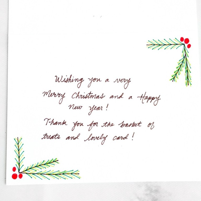 what to write in your holiday thank you cards