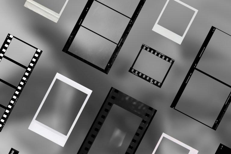 Film polaroid mockup