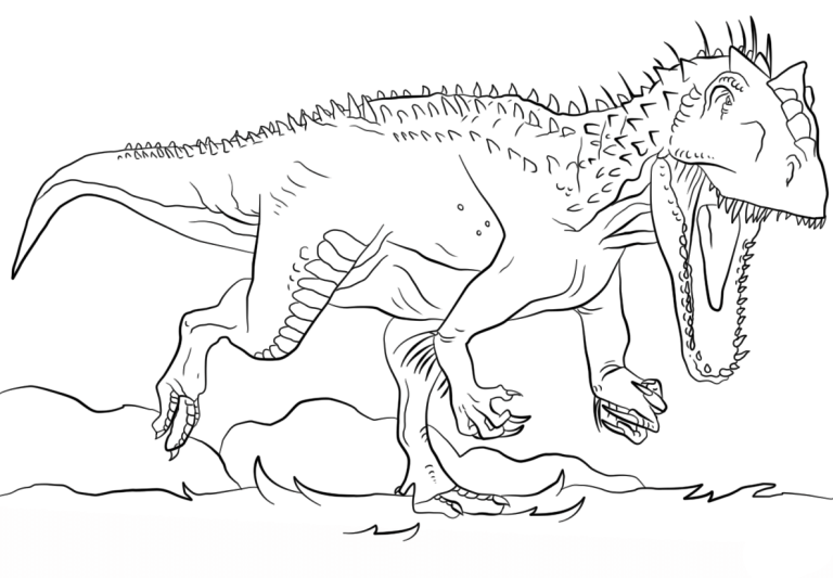 Idea for Children jurassic world coloring pages