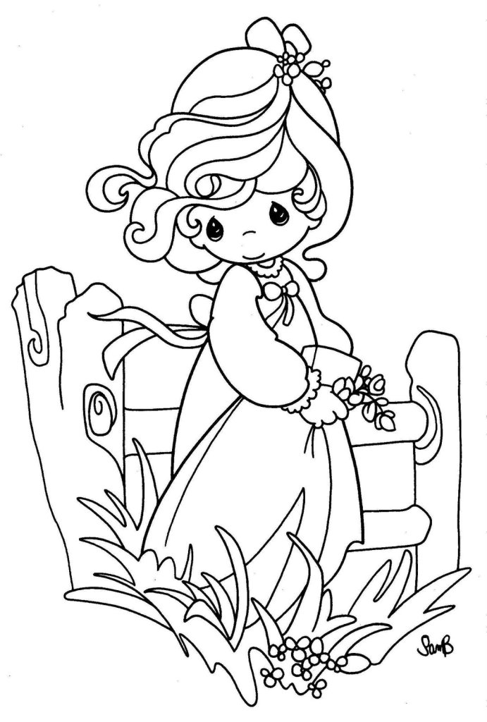 Precious Moments Coloring Page Online