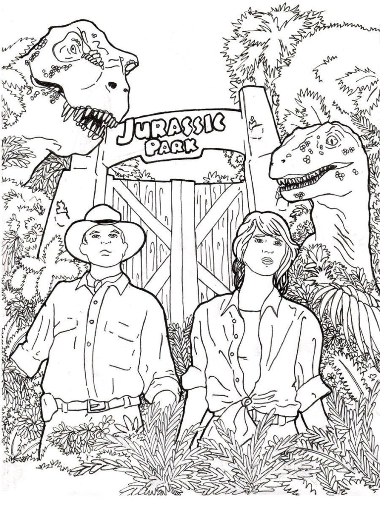 jurassic world coloring pages for Your Children