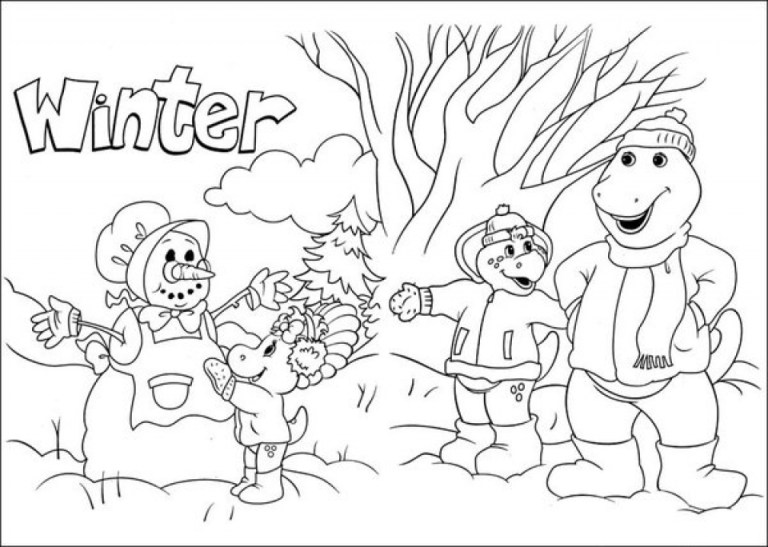 Barney Coloring Pages Picture