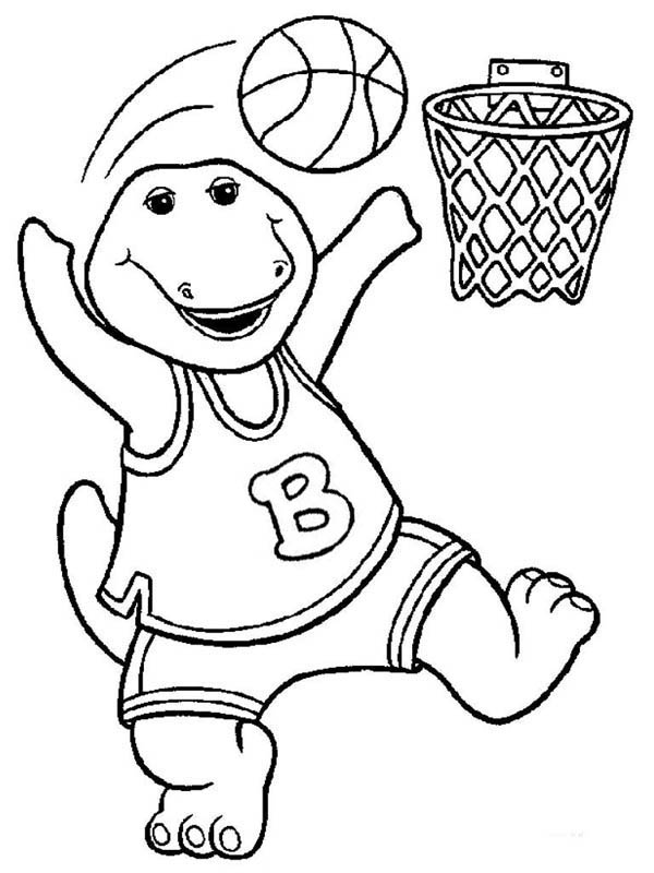 Barney Colouring Pages Printable