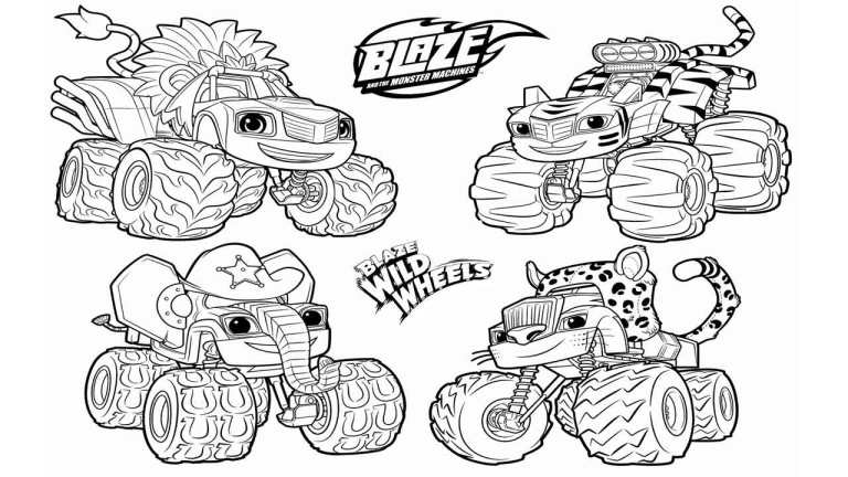 Blaze Coloring Pages For Adult